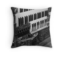abandoned organ Throw Pillow