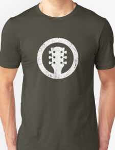 Gibson Les Paul Headstock, White Unisex T-Shirt
