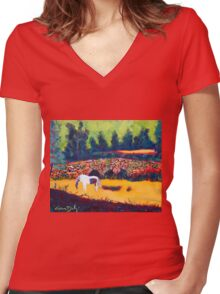 Bridge at Ballea, Cork Women's Fitted V-Neck T-Shirt