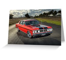 Red Ford XY GT Replica Greeting Card