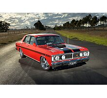 Red Ford XY GT Replica Photographic Print