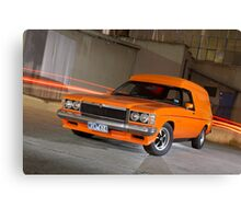 Orange Holden Sandman Panel Van Canvas Print