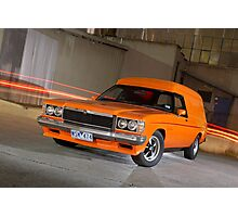Orange Holden Sandman Panel Van Photographic Print