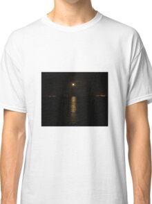 Moon over River Foyle Redcastle Donegal Ireland  Classic T-Shirt