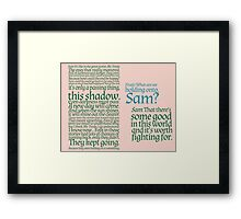 The Two Towers-- Sam's Speech Framed Print