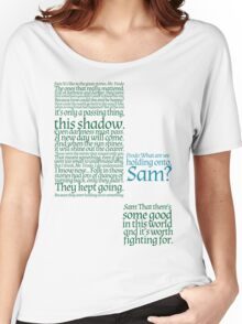 The Two Towers-- Sam's Speech Women's Relaxed Fit T-Shirt