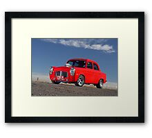 Red 1955 Ford Prefect Framed Print