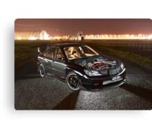 Black Subaru WRX Canvas Print