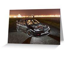 Black Subaru WRX Greeting Card