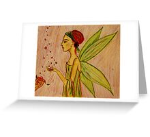 Frida Kahlo with Wings Greeting Card