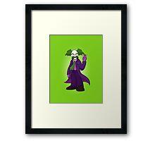 Dr. Wily Joker Framed Print