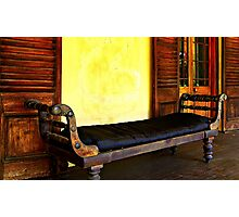 Old Leather Recliner Photographic Print