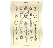 A Handbook Of Ornament With Three Hundred Plates Franz Sales Meyer 1896 0513 Jewelry Earring Ear Ring Poster