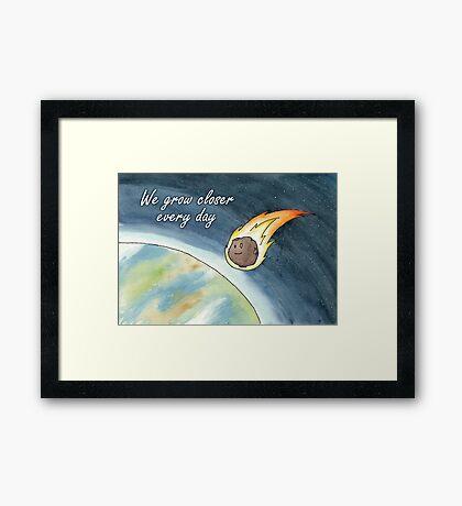 Asteroid valentine Framed Print