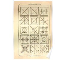 A Handbook Of Ornament With Three Hundred Plates Franz Sales Meyer 1896 0032 Geometrical Elements Square Subdivision Poster