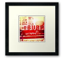 Burp Framed Print