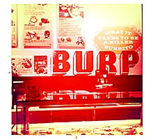 Burp Photographic Print