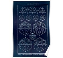 A Handbook Of Ornament With Three Hundred Plates Franz Sales Meyer 1896 0036 Geometrical Elements Triangle Hexagon Subdivision Inverted Poster
