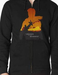 Greatness from small beginnings Zipped Hoodie