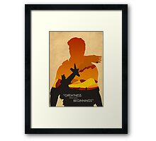 Greatness from small beginnings Framed Print