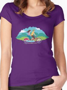 Tandem Bike Trip Women's Fitted Scoop T-Shirt