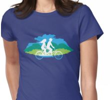 Tandem Bike Trip Womens Fitted T-Shirt