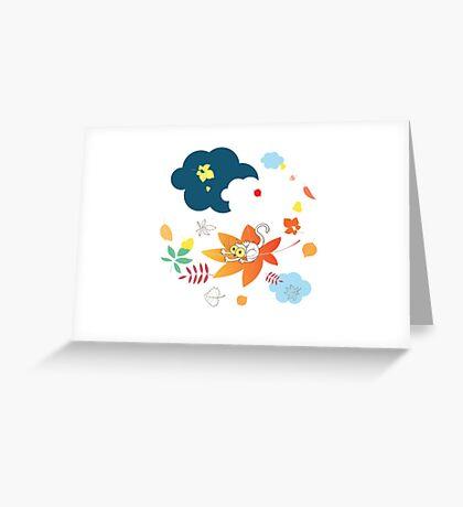 Leaf fall. Greeting Card