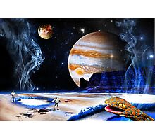 Amazing! Microbes! On Ganymede! Photographic Print