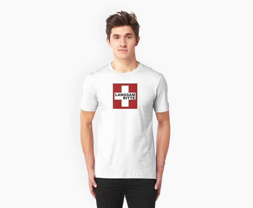 Swiss Flag (Medium-design) Langsam Bitte by emilykperkin