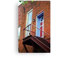 Jonesborough, Tenessee - Upstairs Neighbors Canvas Print