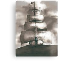 Sailing in the storm Canvas Print