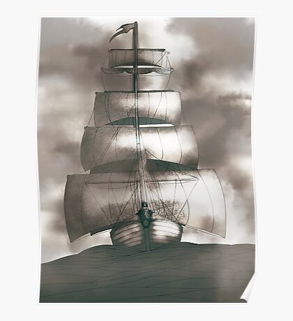Sailing in the storm Poster