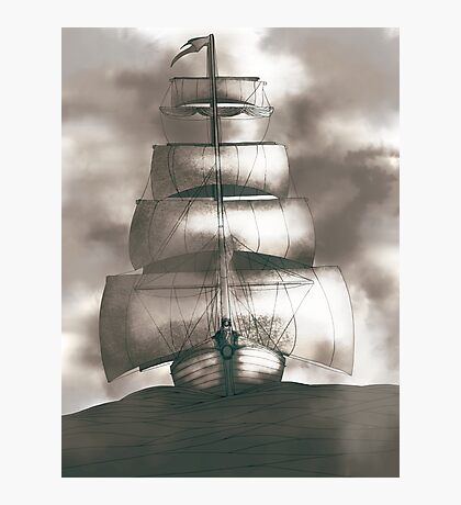 Sailing in the storm Photographic Print
