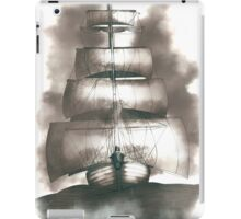 Sailing in the storm iPad Case/Skin