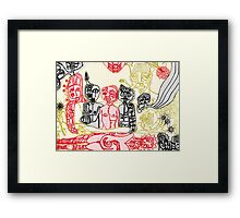 dance of the white shaman Framed Print