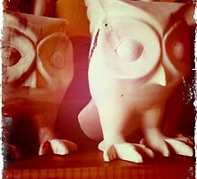 Wooden Owls by Kerryn Benbow