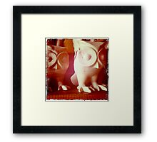 Wooden Owls Framed Print