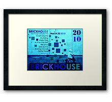 Brickhouse Dance Party Flyer Framed Print