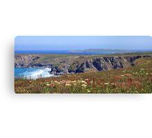 Perfect Summer's Day - Cornish Coast Canvas Print