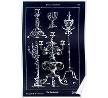 A Handbook Of Ornament With Three Hundred Plates Franz Sales Meyer 1896 0385 Metal Objects Candlestick or Candle Stick Inverted Poster