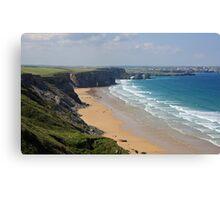 Cornish Coast - Looking West Towards Newquay Canvas Print