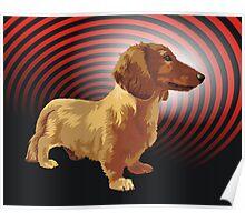George dachshund Poster