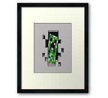 Minecraft Creeper! Framed Print