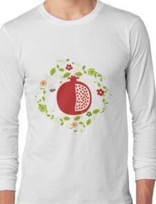 Shanah Tovah Rosh Hashanah Jewish New Year Symbols Illustration Long Sleeve T-Shirt