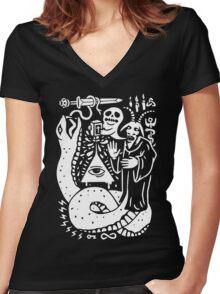 Yo Cult Women's Fitted V-Neck T-Shirt