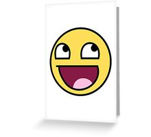 4chan face Greeting Card