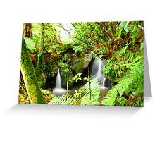 Waterfall, Rotorua Greeting Card
