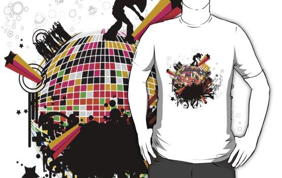 world on my tee t-shirt by Amalia Iuliana Chitulescu