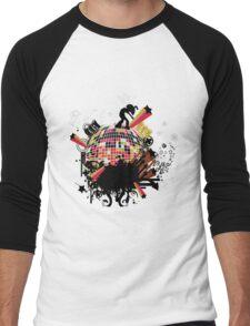 world on my tee t-shirt Men's Baseball ¾ T-Shirt