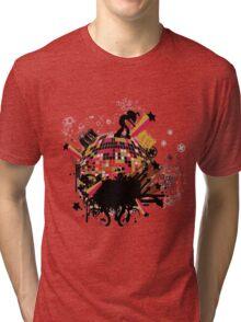 world on my tee t-shirt Tri-blend T-Shirt